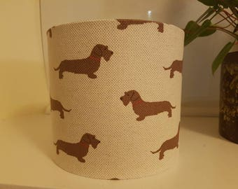 Dachshund lampshade( base not included)