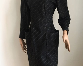 Ungaro, avantgarde black dress