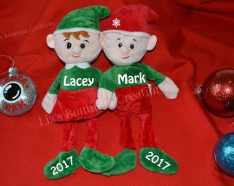 Elf plush, personalized Elf custom, Elves personalized, Elf plush, plush toy, Christmas Elf plush, Stuffed Elf