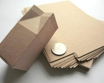 Milk Carton Wedding Favor Gift Boxes, Rustic Wedding Favor Boxes, 24 Kraft boxes
