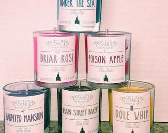 Disney Themed Candles - Vegan Candles - Hand Poured Candles - Disney Scented Candles - Soy Based Candles