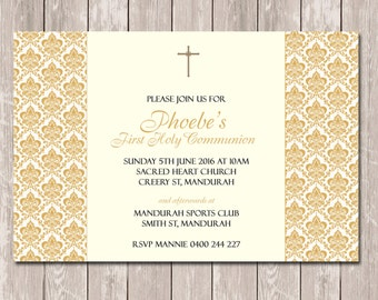Communion Confirmation Baptism Invitations - YOU PRINT