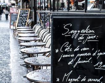 Travel Photography, Paris Photography, Paris Cafe, France, Home Decor, Wall Art, Photography, Europe, Paris