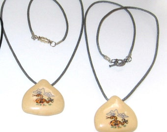 KIDS Porcelain Hand-painted Snake Pendant Necklaces, Your Choice