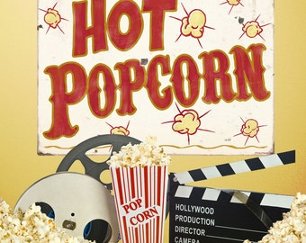 Hot Popcorn Carnival Food Wall Decal - #59416