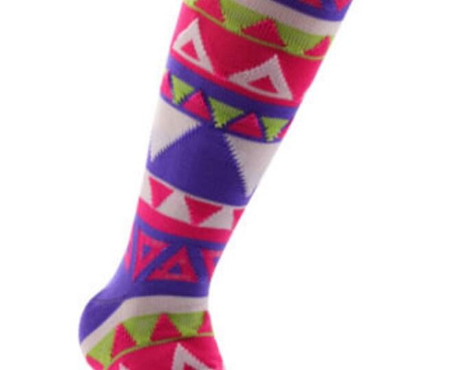 Samson® Aztec Funky Socks Sport Knee High Sport Football Rugby Soccer