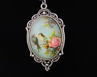 Spring bird necklace