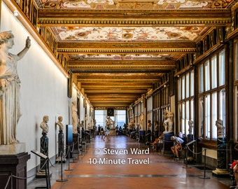 Florence Italy - Inside the Uffizi Gallery