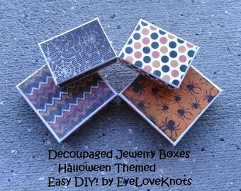 Easy DIY TUTORIAL - Decoupaged Jewelry Boxes - Embellished Jewelry Box DIY - Permission to Sell Items Made