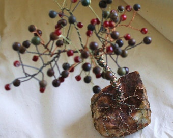 Manifestation Fruit Tree of Chaos, Jasper Gemstone Tree
