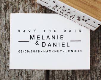 Wedding stamp, save the date stamp, wedding RSVP stamp, Wedding stamper, Wedding rubber stamp, Modern wedding invite, stylish invitation