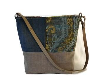 Large crossbody bag, large shoulder bag, XL tote, crossbody bag, laptop bag, every day bag, unique shoulder bag, shoulder purse