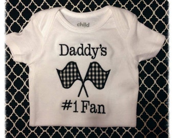 Daddy's Number #1 Fan Racing Onesie