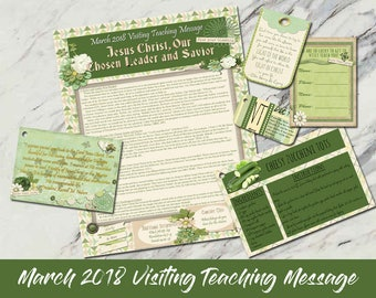 March 2018 Visiting Teaching Message: Jesus Christ, Our Chosen Leader and Savior