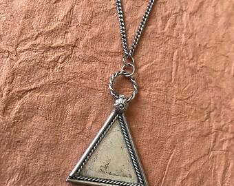 Trifecta Silver Pendant Necklace