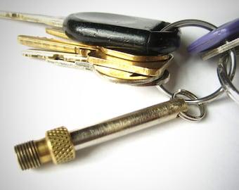 Presta valve adapter keychain