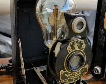 No. 2 Folding Autographic Brownie camera Accent Lamp