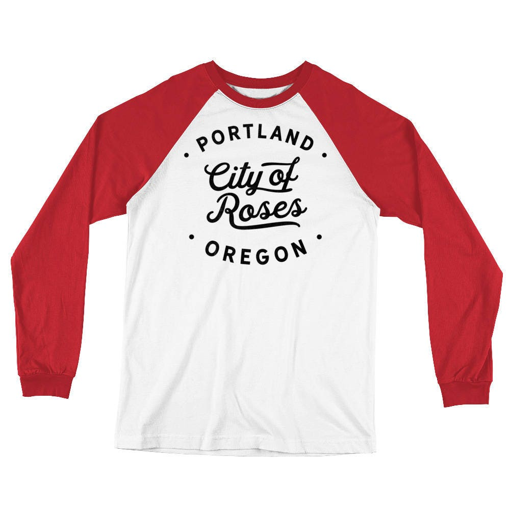Classic Retro Vintage Portland Or City Of Roses Pdx Long