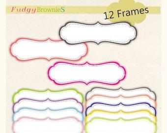 ON SALE Digital frame, Long Frames clipart, digital scrapbooking frames.A-37 , Instant Download