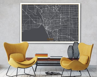 Buffalo street map Etsy