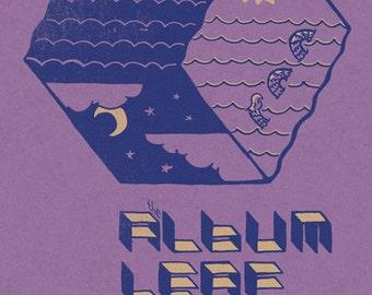 The Album Leaf screenprinted gigposter 8/11/2010