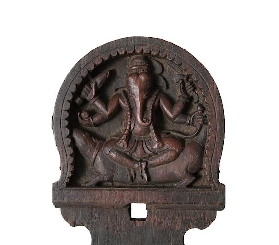 Ganesh Kavadi wood panel - India - 19/20th century