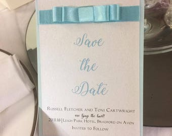 Wedding save the date cards A6 with envelope