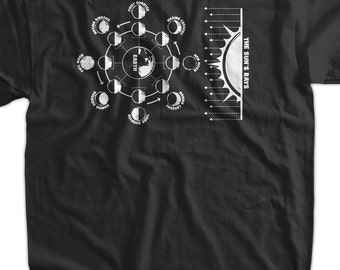 Astronomy T-Shirt Moon Phase Chart T Shirt Family Mens womans space youth planets tshirt