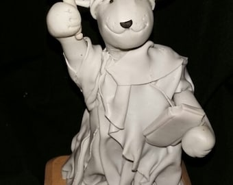 Bull terrier figurine Statue of Liberty