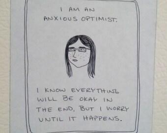 Anxious Optimist - Magnet