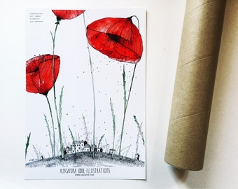 shows poppies (A3)