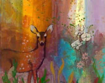 Sun Deer fine art print