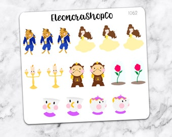 The BEAUTY and the BEAST stickers — 1062