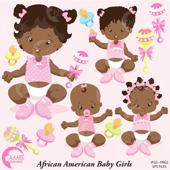 baby girl clip art baby clipart african american baby girl rh etsy com african american baby girl clipart free african american baby girl clipart free