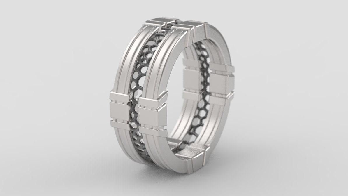 Geek wedding ring geek engagement ring star wars ring Sci
