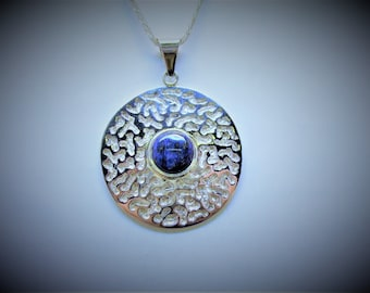 Lapis Sterling Silver Pendant