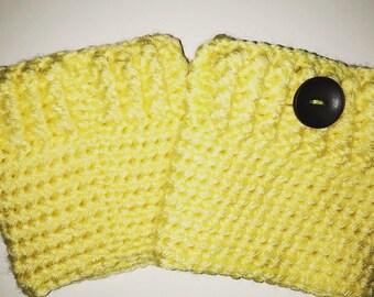 Crochet boot cuffs, boot toppers, leg warmers