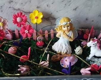 Fairy Garden Starter Kit. Dancing in the Meadow Revamped Version
