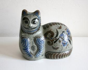 Tonala Mexican Cat Statuette