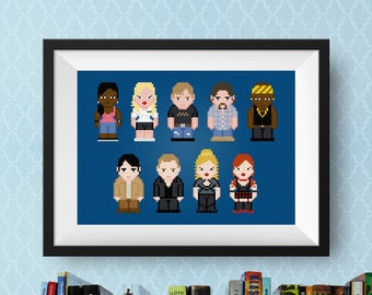 True Blood Cross Stitch Pattern | TV Show Cross Stitch Chart | Vampire Cross Stitch | TV Cast Cross Stitch | Sookie Stackhouse | Anna Paquin