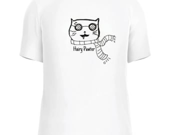 Hairy Pawter crazy cat shirt harry potter catpuns funny cute cat art animal rescue beepbopagency