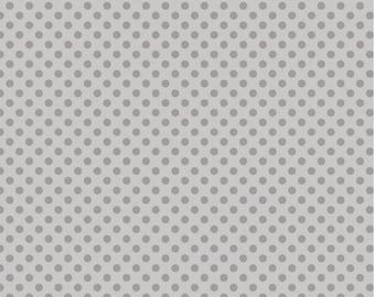 Tone on Tone Gray Dots - Fat Quarter Cut - Small Dots - Riley Blake Designs - Cotton Fabric - Gray Dots