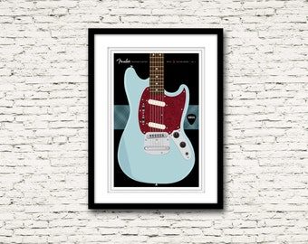 Guitars Signature Series Poster 7 Fender Mustang Custom Nirvana
