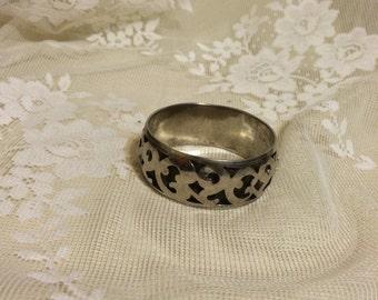 Silver Plate  Bangle Bracelet