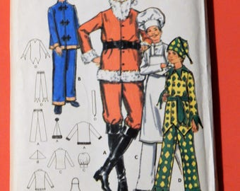 Butterick 5103 Boys' Santa, Asian, chef and jester costume pattern Uncut Size 12