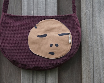 Funky schoulder bag 'Ziyana' in purple color