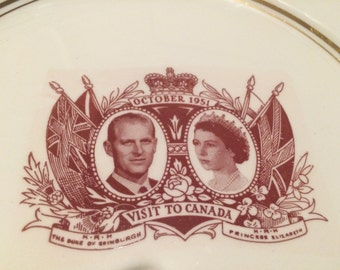 Plate of the Royal Visit in America 1951