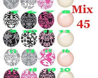 cabochon 25 mm glass choice Mix45-25
