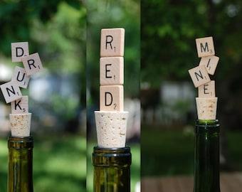 Scrabble Wine Bottle Stopper