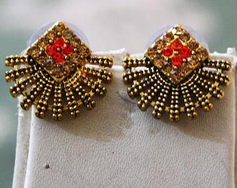 Gold Stud Indian Traditional Jewelry Women Ethnic Wear Fashion Earrings Wedding Gift Daily Wear Stud Earrings Jewellery